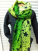 красивый шарф палантин с нежной расцветкой из хлопка и он же парео