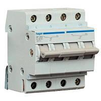 Перекидной рубильник ввода резерва (однофазный) Hager SF263 250В/63A, 1+N, 4 модуля