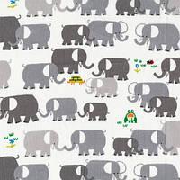 Ткань для пэчворка и рукоделия Cloud9 - Elephants