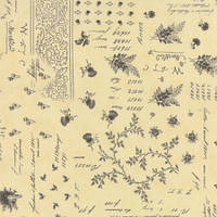 Ткань для пэчворка и рукоделия Moda - Atelier Linen Charcoal