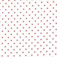 Ткань для пэчворка и рукоделия Moda - Essential Dots White Red