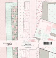 Набор бумаги для скрапбукинга Scrapmir Baby Girl, 30х30 см