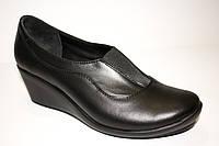 Туфли на танкетке из натуральной кожи, от производителя.
