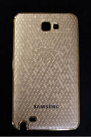 Чехол-накладка для Samsung Galaxy Note N7000, i9220, пластик с винилом, NOCK, Золотистый /case/кейс /самсунг галакси