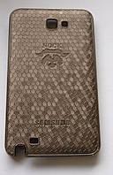 Чехол-накладка для Samsung Galaxy Note N7000, i9220, пластик с винилом, NOCK, Коричневый /case/кейс /самсунг галакси