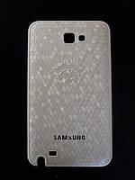 Чехол-накладка для Samsung Galaxy Note N7000, i9220, пластик с винилом, NOCK, Белый /case/кейс /самсунг галакси
