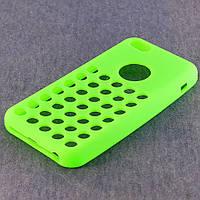 Чехол-накладка для Apple iPhone 5C, силиконовый с дырочками, COOK, Лайм /case/кейс /айфон