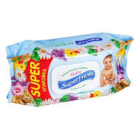 Детские влажные салфетки с клапаном Superfresh 120 шт