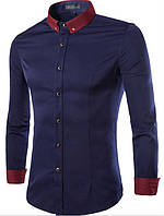 Рубашка синяя Лоренцо