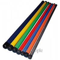 Палка гимнастическая, L=110 cм, разн. цвета