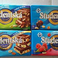 Шоколад 'Studentska pechat' 180г. Чехія.