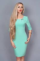 Однотонное нарядное платье