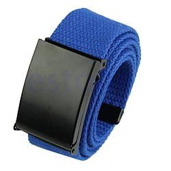 Ремень тканевый синий