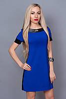 Платье свободного кроя цвета электрик