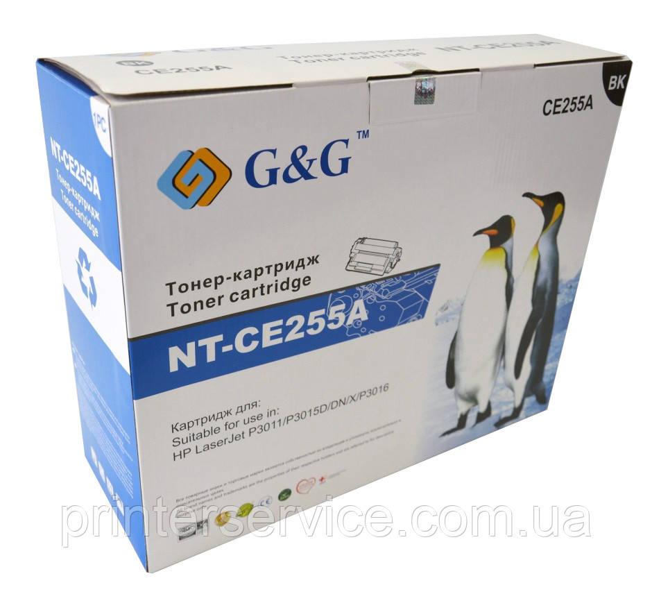CE255A совместимый картридж (аналог) для HP LJ P3011/ P3015/ P3016 series, G&G-CE255A Black