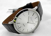 Часы мужские Guardo Classic,  Made in Italy, цвет золото, черный ремешок, серебристый циферблат