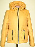Курточка весенняя короткая цвет желтый