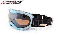 Маска горнолыжная NICE FACE 925, бирюзовый цвет., фото 1
