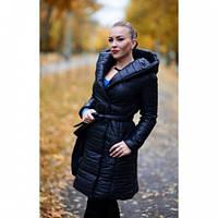 Пальто женское стеганное Марина 23 черное, магазин пальто