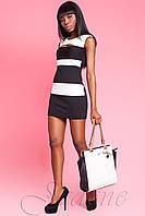 Короткое черно-белое платье Керри ТМ Жадон 42-50 размеры Jadone
