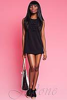 Короткое черное платье Монтерей ТМ Жадон 42-50 размеры Jadone