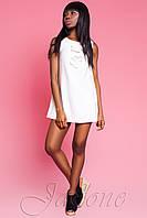 Короткое белое платье Монтерей ТМ Жадон 46-50 размеры Jadone