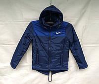Куртка парка подростковая для мальчика 10-14 лет,синяя