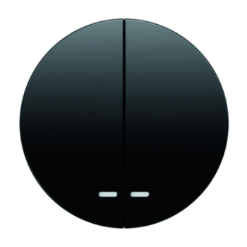 Клавиша для 2-кл. выкл. с линзой, чёрная, Berker R.1/R.3