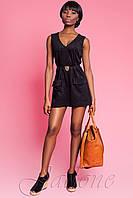 Короткое черное платье - туника Софи ТМ Жадон 42-50 размеры Jadone