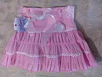 Розовая летняя юбка для девочки, фото 1