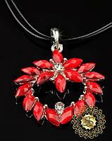 Красивая подвеска Красный цветок