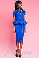 Платье цвета электрик Монсеррат ТМ Жадон 42-46 размеры Jadone