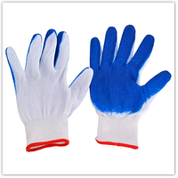 Перчатки рабочие 'Вампирки' синий, стрейч с резиновым покрытием (12 пар)