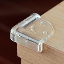 Защита на мебель от детей силиконовая треугольная. Прозрачный.
