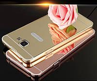 """Samsung A510 A5 2016 Оригинальный металлический зеркальный хромированный чехол бампер корпус для телефона """"CHS"""
