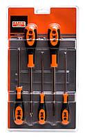Набор отверток 600 серии, 5 штук. Отвертки под винты со шлицем и Phillips, Bahco, 604-5