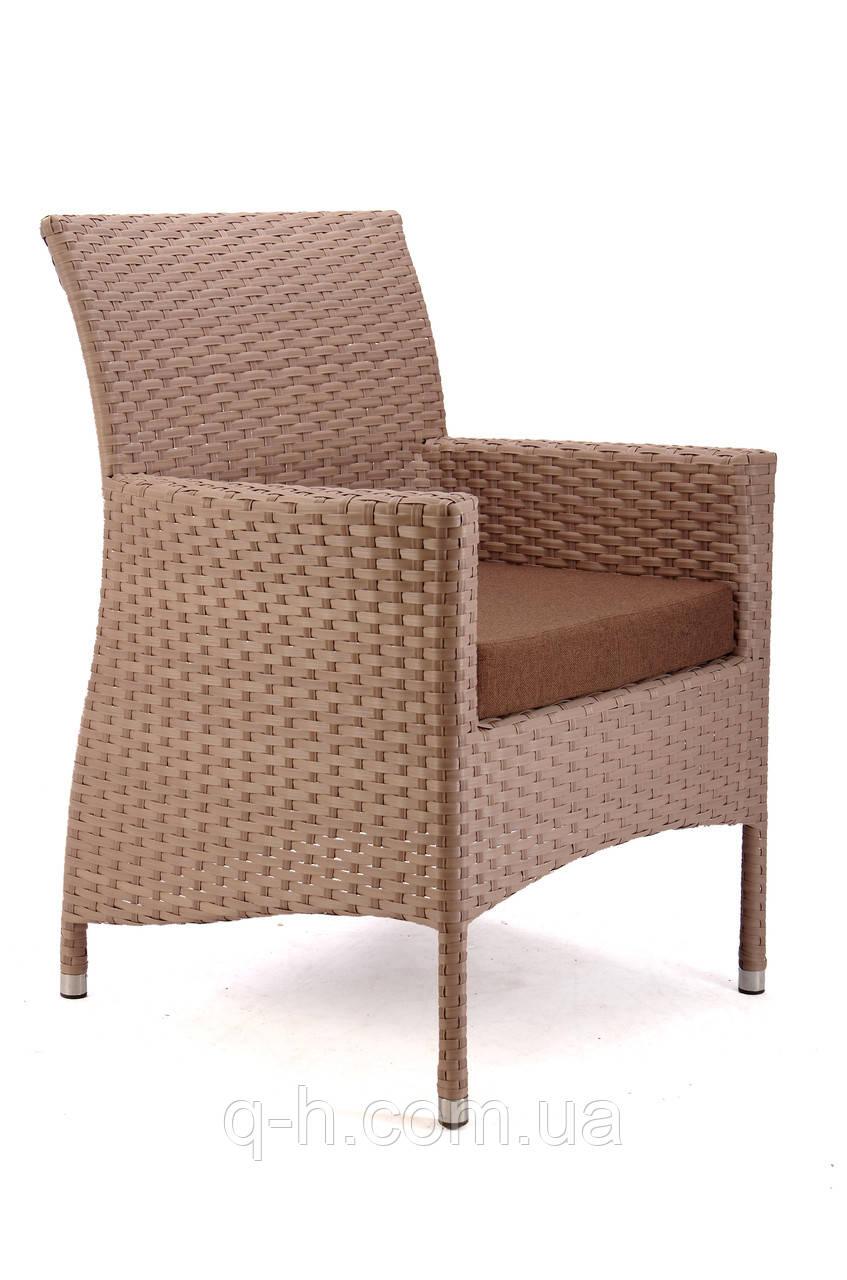 Кресло Омега плетеное из искусственного ротанга 67x62x92 см (Omega-02)