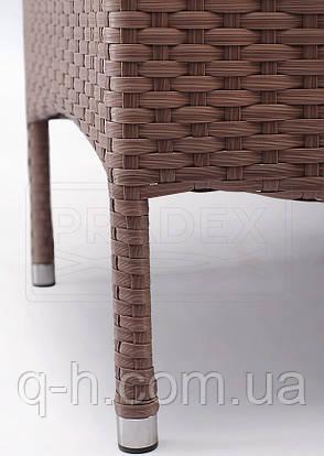 Кресло Омега плетеное из искусственного ротанга 67x62x92 см (Omega-02), фото 2