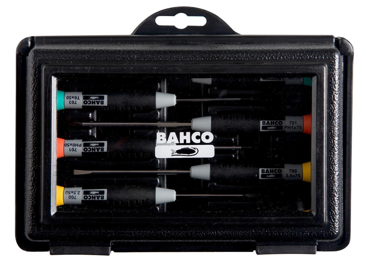 Набір прецизійних викруток, 7 штук, Bahco, 706-4