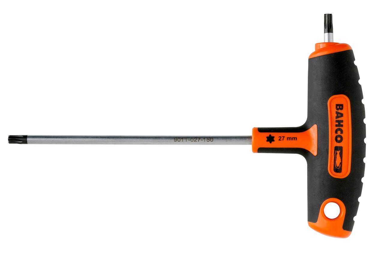 Отвертка с T-образной рукояткой под винты TORX®, T 9, Bahco, 901T-009-100