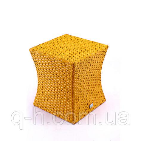 Мягкий пуф плетеный из искусственного ротанга Itaka, фото 2