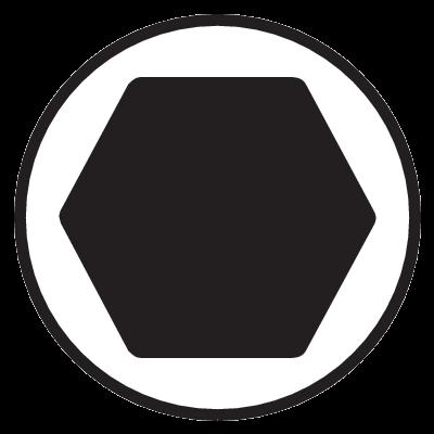 Шестигранник никелированный, Bahco, 1998M-2