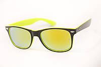 Солнцезащитные очки зеркальные желтые , фото 1
