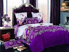 Постельное белье сатин - полуторный комплект (Violet1)