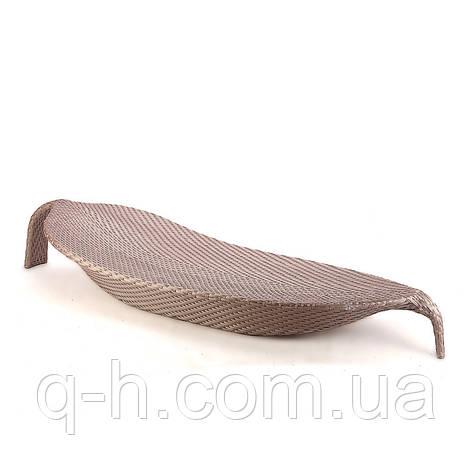 Плетеный шезлонг из искусственного ротанга List, фото 2
