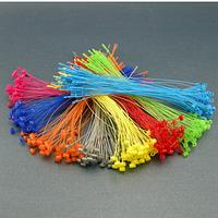 Кольцевой ручной соединитель (ярлыкодержатель)  для крепления бирок и ярлыков 12 см (зеленый, розовый, голубо)