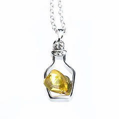 Ланцюжок з кулоном Herz-Flasche sárga