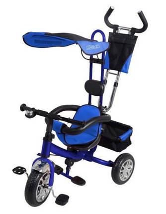 Дитячий триколісний велосипед VT 1416. Синій, фото 2