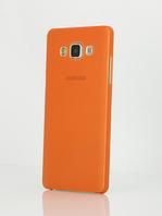 Оранжевый пластиковый чехол для Samsung Galaxy A3