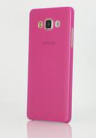Розовый пластиковый чехол для Samsung Galaxy A3